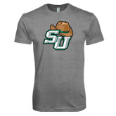 Next Level Premium Heather Tri Blend Crew-SU w/ Hat