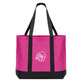 Tropical Pink/Dark Charcoal Day Tote-SU w/ Hat