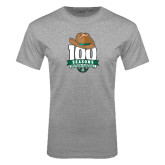 Grey T Shirt-100 Seasons of Baseball