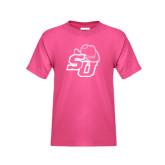Youth Cyber Pink T Shirt-SU w/ Hat