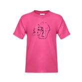 Youth Fuchsia T Shirt-SU w/ Hat