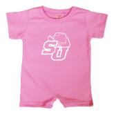 Bubble Gum Pink Infant Romper-SU w/ Hat