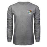 Grey Long Sleeve T Shirt-SU w/ Hat