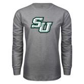 Grey Long Sleeve T Shirt-