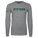 Grey Long Sleeve T Shirt-Stetson