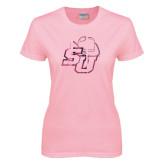 Ladies Pink T-Shirt-SU w/ Hat