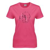 Ladies Fuchsia T Shirt-SU w/ Hat