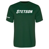 Performance Dark Green Tee-Stetson