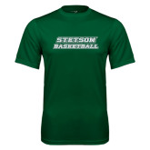 Performance Dark Green Tee-Basketball