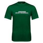 Performance Dark Green Tee-Beach Volleyball