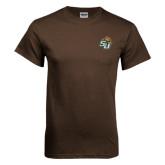 Brown T Shirt-SU w/ Hat
