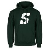 Dark Green Fleece Hood-Secondary Logo
