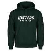 Dark Green Fleece Hood-Football