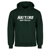 Dark Green Fleece Hood-Softball