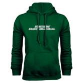 Dark Green Fleece Hood-Beach Volleyball