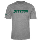 Performance Grey Heather Contender Tee-Stetson