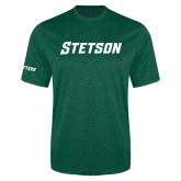 Performance Dark Green Heather Contender Tee-Stetson