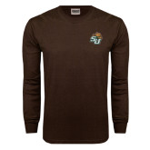 Brown Long Sleeve TShirt-SU w/ Hat