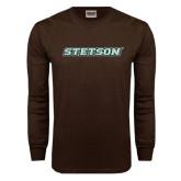 Brown Long Sleeve TShirt-Stetson