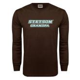 Brown Long Sleeve TShirt-Grandpa