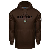 Under Armour Brown Performance Sweats Team Hoodie-Volleyball Stacked