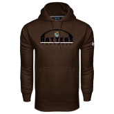 Under Armour Brown Performance Sweats Team Hoodie-Football Stacked