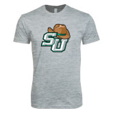 Next Level SoftStyle Heather Grey T Shirt-SU w/ Hat