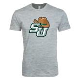 Next Level SoftStyle Heather Grey T Shirt-SU w/ Hat