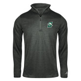 Russell Charcoal Heather 1/4 Zip-Primary logo