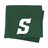 Dark Green Sweatshirt Blanket-Secondary Logo