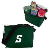Six Pack Dark Green Cooler-Secondary Logo