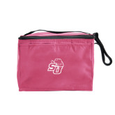 Six Pack Pink Cooler-SU w/ Hat