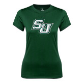 Ladies Performance Dark Green Tee-