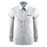 Ladies Red House White Long Sleeve Shirt-Stetson