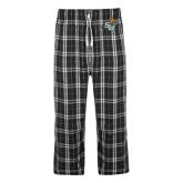 Black/Grey Flannel Pajama Pant-SU w/ Hat