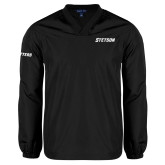V Neck Black Raglan Windshirt-Stetson