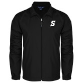 Full Zip Black Wind Jacket-Secondary Logo