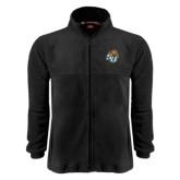 Fleece Full Zip Black Jacket-SU w/ Hat