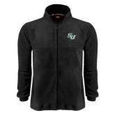 Fleece Full Zip Black Jacket-SU