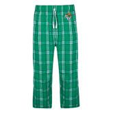 Green/White Flannel Pajama Pant-SU w/ Hat