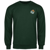Dark Green Fleece Crew-SU w/ Hat