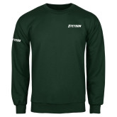 Dark Green Fleece Crew-Stetson