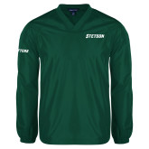 V Neck Dark Green Raglan Windshirt-Stetson