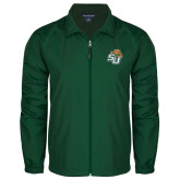 Full Zip Dark Green Wind Jacket-SU w/ Hat