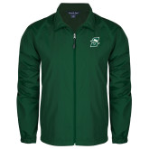 Full Zip Dark Green Wind Jacket-Primary logo