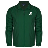 Full Zip Dark Green Wind Jacket-Secondary Logo