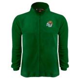 Fleece Full Zip Dark Green Jacket-SU w/ Hat