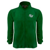 Fleece Full Zip Dark Green Jacket-SU