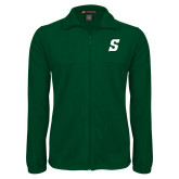 Fleece Full Zip Dark Green Jacket-Secondary Logo