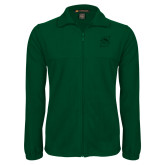 Fleece Full Zip Dark Green Jacket-Primary logo